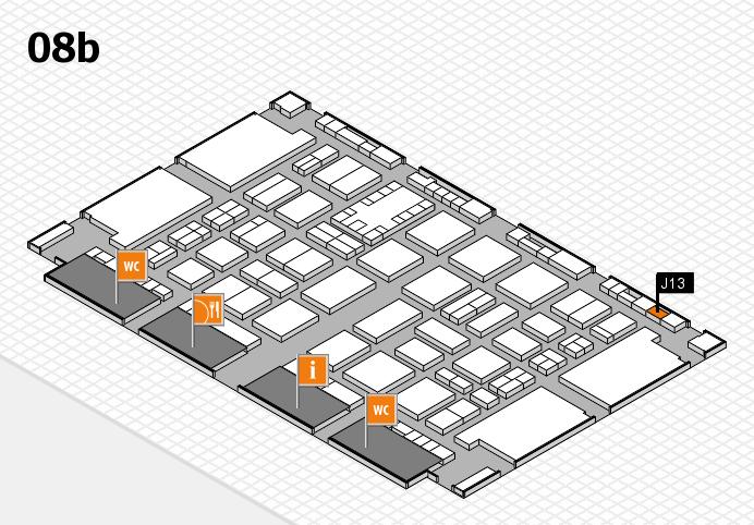 TOP HAIR DÜSSELDORF 2017 hall map (Hall 8b): stand J13