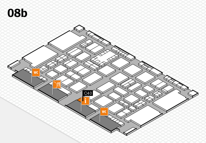 TOP HAIR DÜSSELDORF 2017 hall map (Hall 8b): stand C40