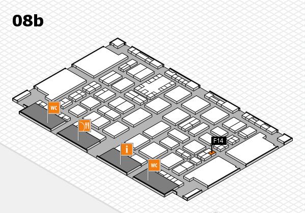 TOP HAIR DÜSSELDORF 2017 hall map (Hall 8b): stand F14