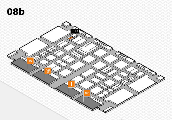 TOP HAIR DÜSSELDORF 2017 hall map (Hall 8b): stand G71