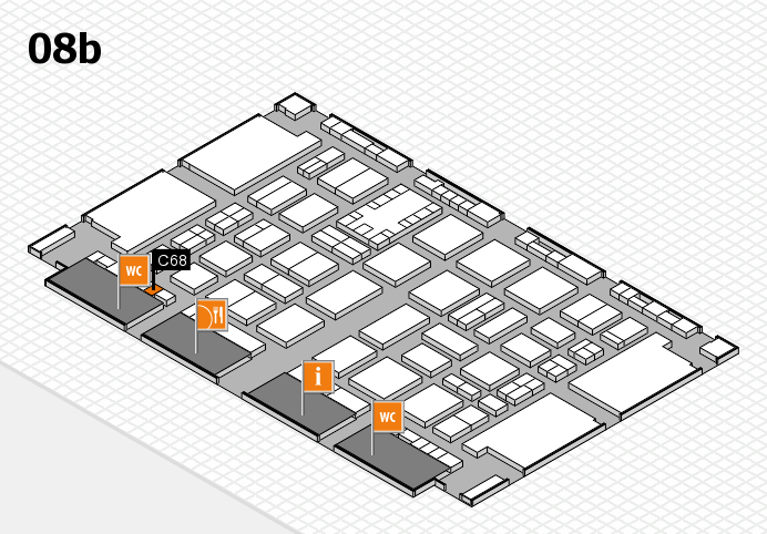 TOP HAIR DÜSSELDORF 2017 hall map (Hall 8b): stand C68