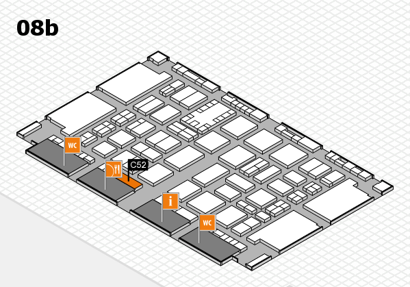 TOP HAIR DÜSSELDORF 2017 hall map (Hall 8b): stand C52