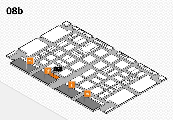 TOP HAIR DÜSSELDORF 2017 hall map (Hall 8b): stand C52