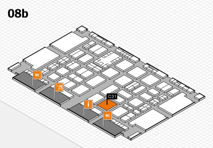 TOP HAIR DÜSSELDORF 2017 hall map (Hall 8b): stand C31