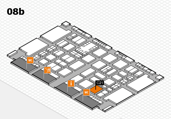 TOP HAIR DÜSSELDORF 2017 hall map (Hall 8b): stand C21