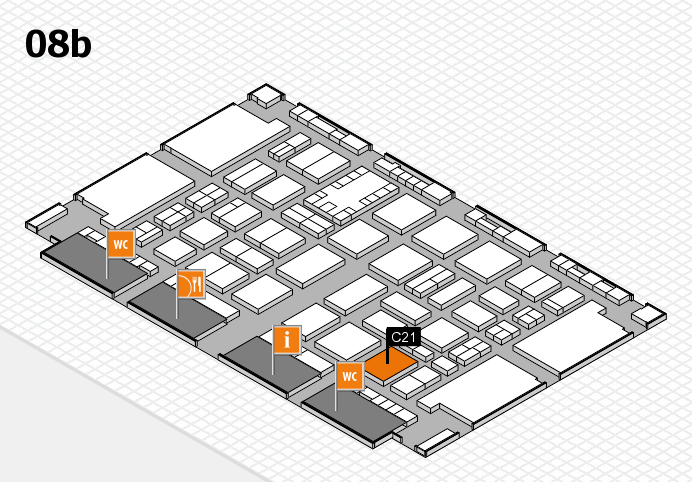 TOP HAIR DÜSSELDORF 2017 hall map (Hall 8b): stand C21