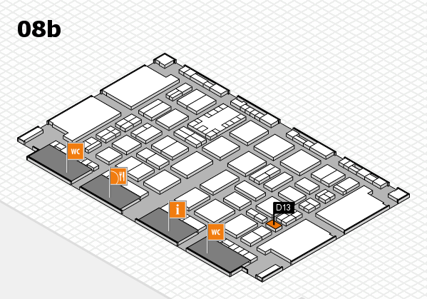 TOP HAIR DÜSSELDORF 2017 hall map (Hall 8b): stand D13