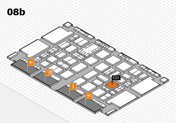 TOP HAIR DÜSSELDORF 2017 hall map (Hall 8b): stand E23