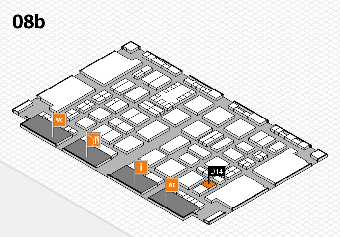 TOP HAIR DÜSSELDORF 2017 hall map (Hall 8b): stand D14