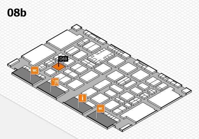 TOP HAIR DÜSSELDORF 2017 hall map (Hall 8b): stand D69