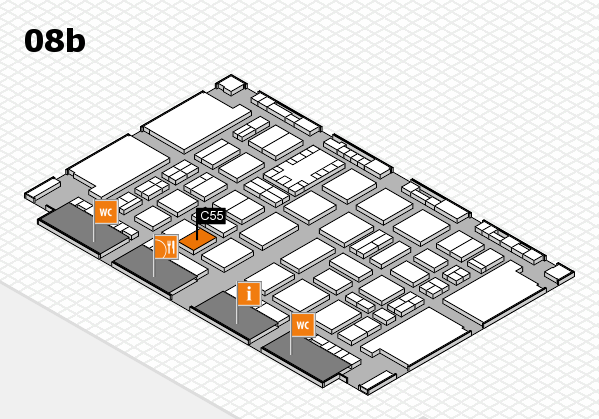 TOP HAIR DÜSSELDORF 2017 hall map (Hall 8b): stand C55