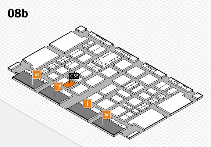 TOP HAIR DÜSSELDORF 2017 hall map (Hall 8b): stand C55