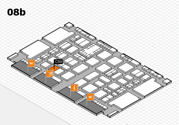 TOP HAIR DÜSSELDORF 2017 hall map (Hall 8b): stand C59