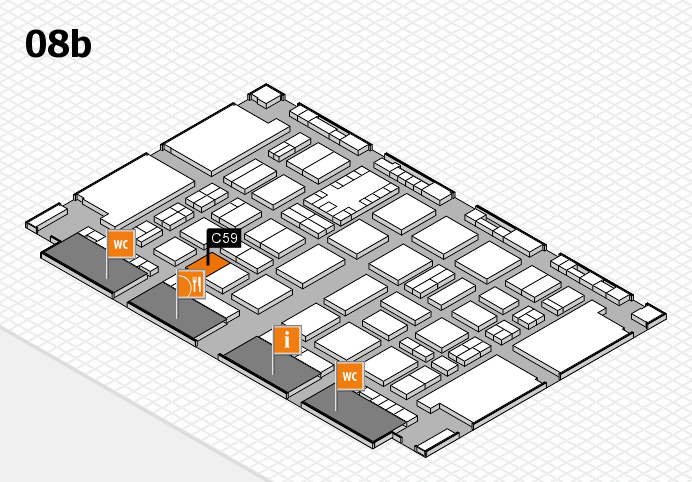 TOP HAIR DÜSSELDORF 2017 hall map (Hall 8b): stand C59