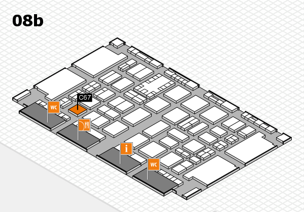 TOP HAIR DÜSSELDORF 2017 hall map (Hall 8b): stand C67