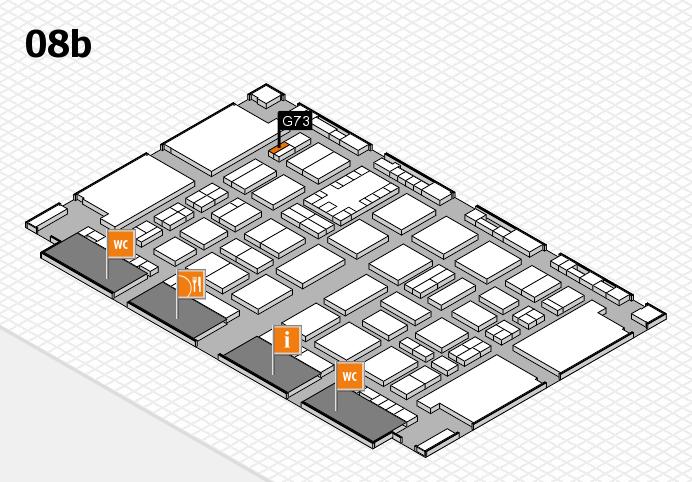 TOP HAIR DÜSSELDORF 2017 hall map (Hall 8b): stand G73