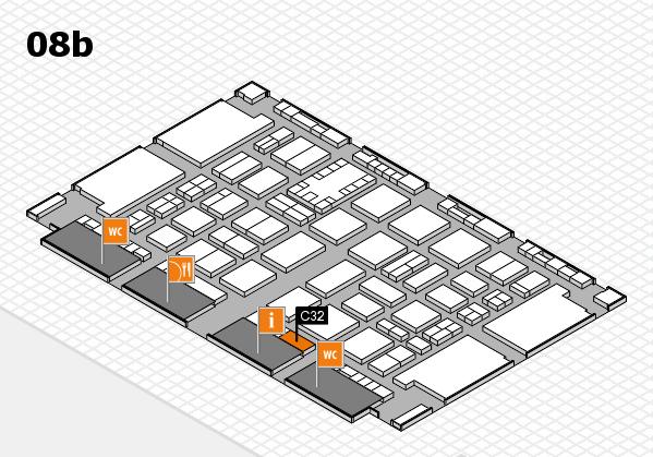 TOP HAIR DÜSSELDORF 2017 hall map (Hall 8b): stand C32