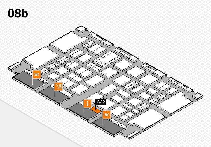 TOP HAIR DÜSSELDORF 2017 hall map (Hall 8b): stand C32