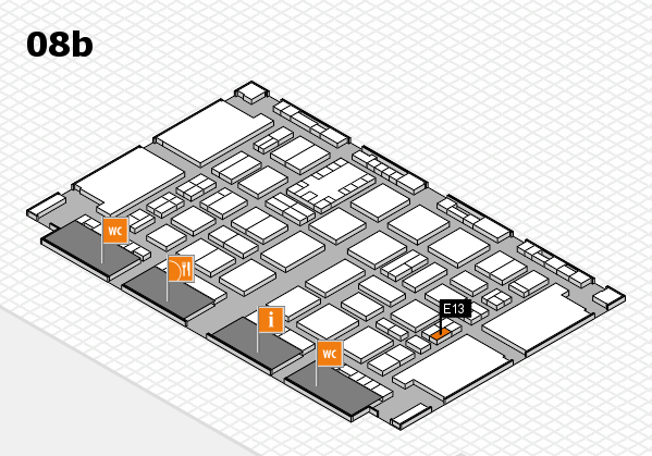 TOP HAIR DÜSSELDORF 2017 hall map (Hall 8b): stand E13