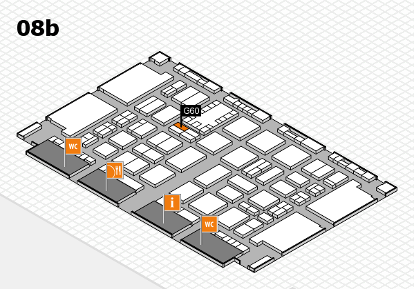 TOP HAIR DÜSSELDORF 2017 hall map (Hall 8b): stand G60