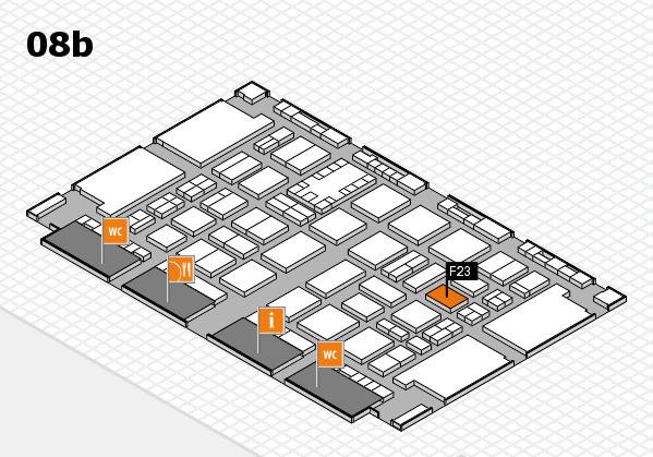 TOP HAIR DÜSSELDORF 2017 hall map (Hall 8b): stand F23