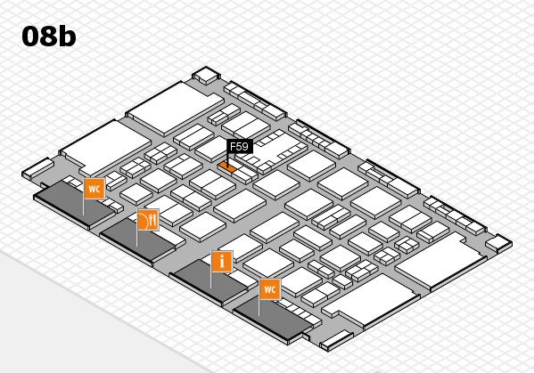 TOP HAIR DÜSSELDORF 2017 hall map (Hall 8b): stand F59