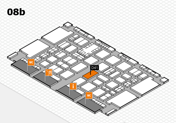 TOP HAIR DÜSSELDORF 2017 hall map (Hall 8b): stand D41