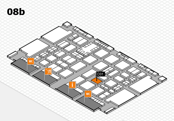 TOP HAIR DÜSSELDORF 2017 hall map (Hall 8b): stand D31