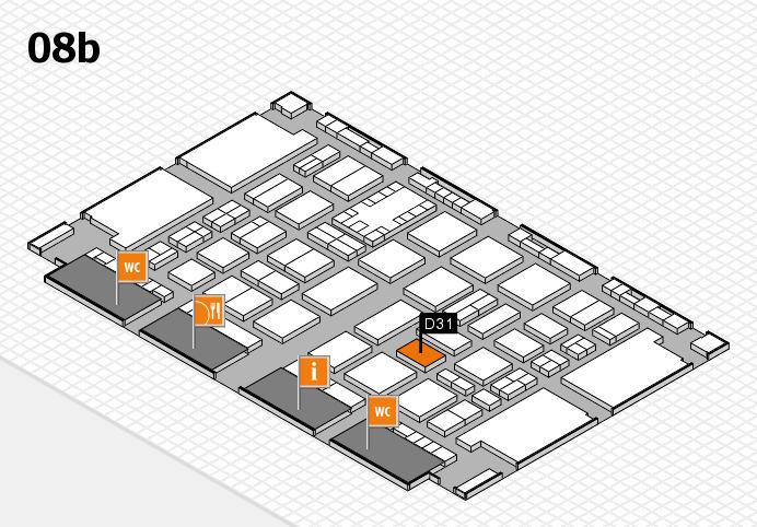 TOP HAIR DÜSSELDORF 2017 hall map (Hall 8b): stand D31