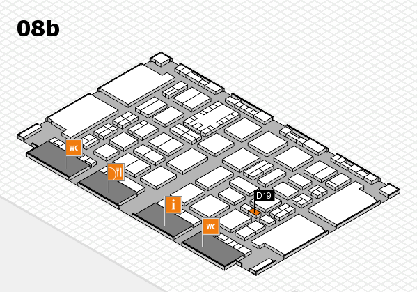 TOP HAIR DÜSSELDORF 2017 hall map (Hall 8b): stand D19