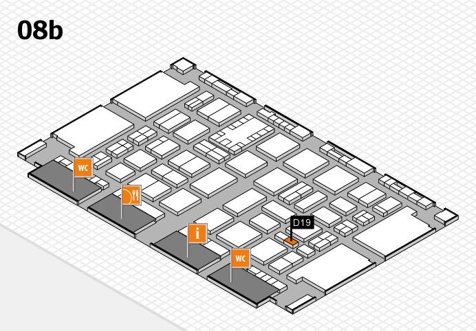 TOP HAIR DÜSSELDORF 2017 hall map (Hall 8b): stand D19