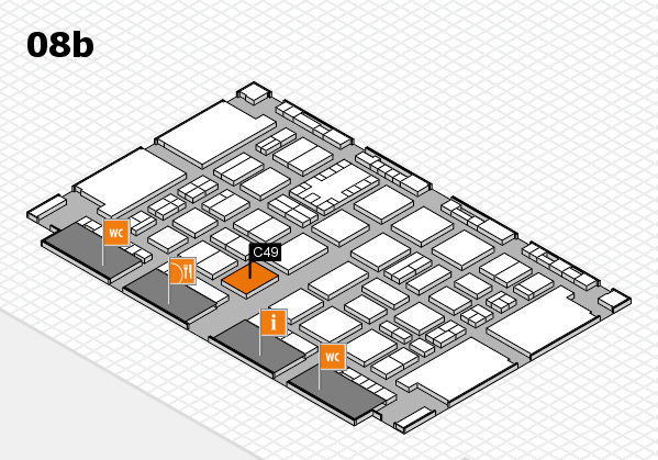 TOP HAIR DÜSSELDORF 2017 hall map (Hall 8b): stand C49
