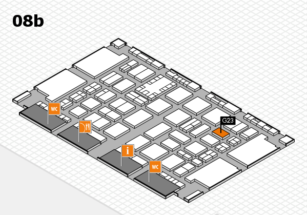 TOP HAIR DÜSSELDORF 2017 hall map (Hall 8b): stand G23