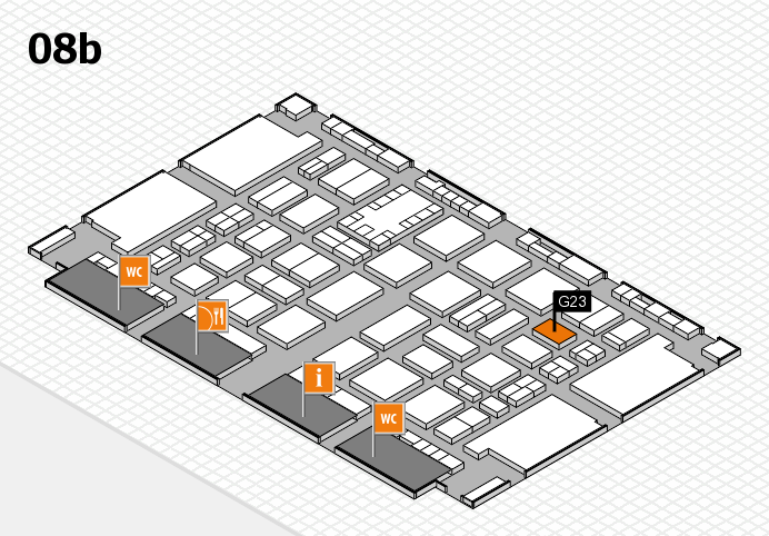 TOP HAIR DÜSSELDORF 2017 hall map (Hall 8b): stand G23