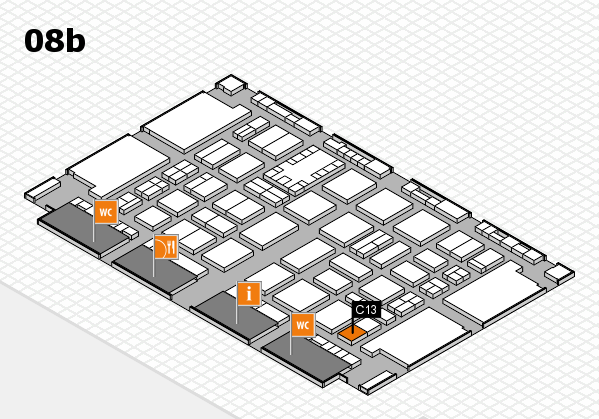 TOP HAIR DÜSSELDORF 2017 hall map (Hall 8b): stand C13