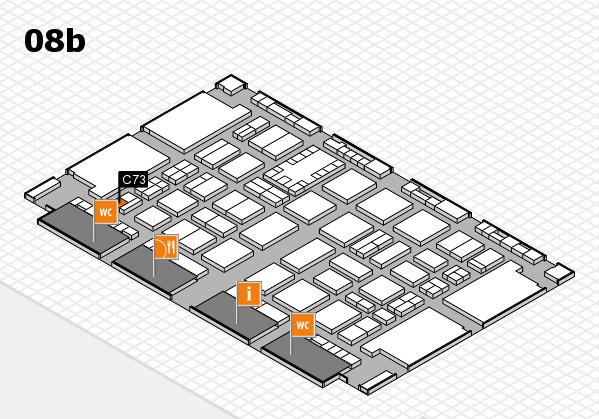 TOP HAIR DÜSSELDORF 2017 hall map (Hall 8b): stand C73
