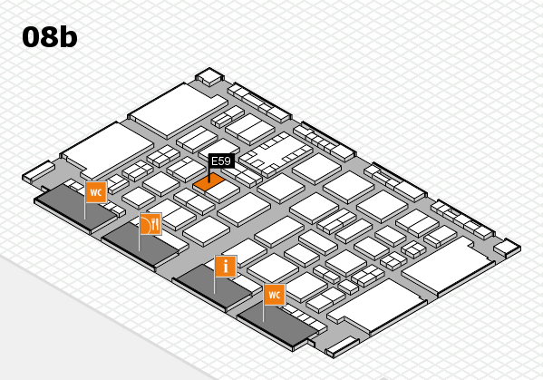 TOP HAIR DÜSSELDORF 2017 hall map (Hall 8b): stand E59