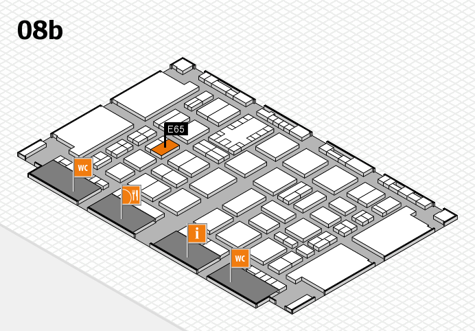 TOP HAIR DÜSSELDORF 2017 hall map (Hall 8b): stand E65