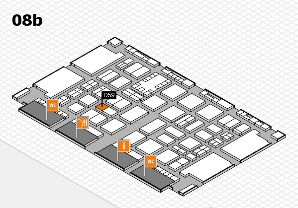 TOP HAIR DÜSSELDORF 2017 hall map (Hall 8b): stand D59