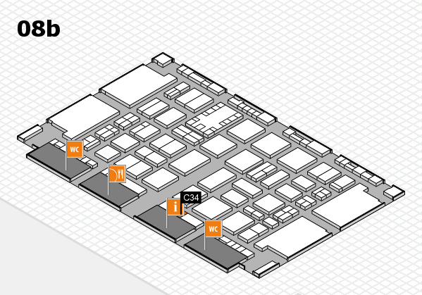 TOP HAIR DÜSSELDORF 2017 hall map (Hall 8b): stand C34