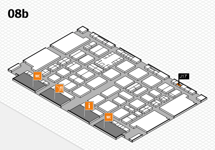 TOP HAIR DÜSSELDORF 2017 hall map (Hall 8b): stand J17