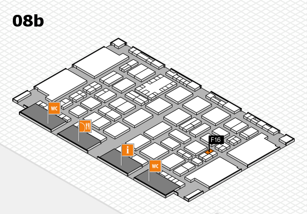 TOP HAIR DÜSSELDORF 2017 hall map (Hall 8b): stand F16