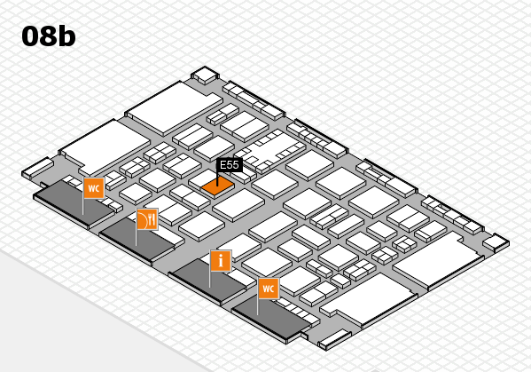 TOP HAIR DÜSSELDORF 2017 hall map (Hall 8b): stand E55