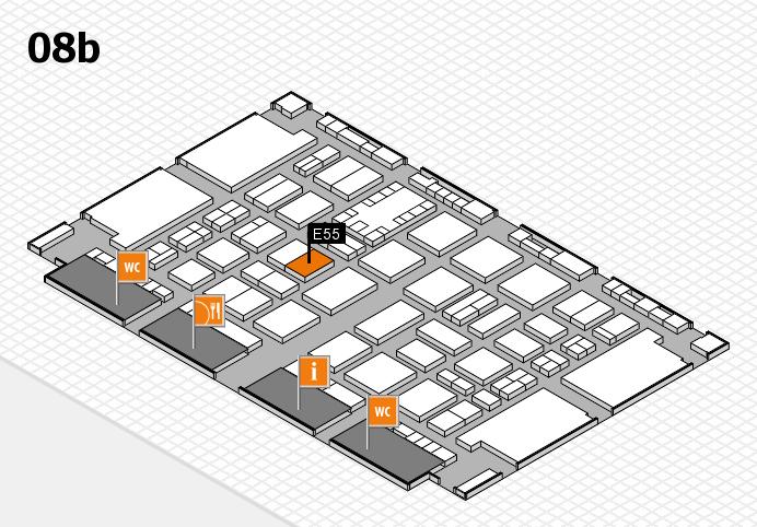 TOP HAIR DÜSSELDORF 2017 hall map (Hall 8b): stand E55
