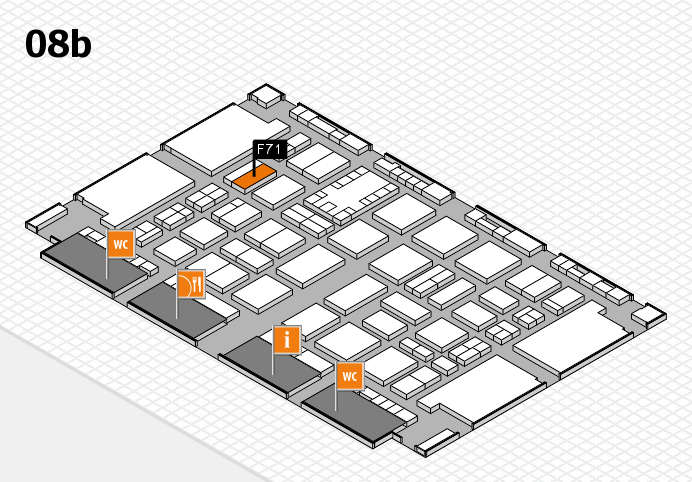 TOP HAIR DÜSSELDORF 2017 hall map (Hall 8b): stand F71