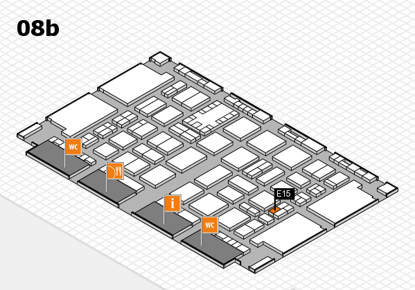 TOP HAIR DÜSSELDORF 2017 hall map (Hall 8b): stand E15
