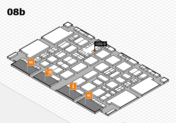 TOP HAIR DÜSSELDORF 2017 hall map (Hall 8b): stand G59-9