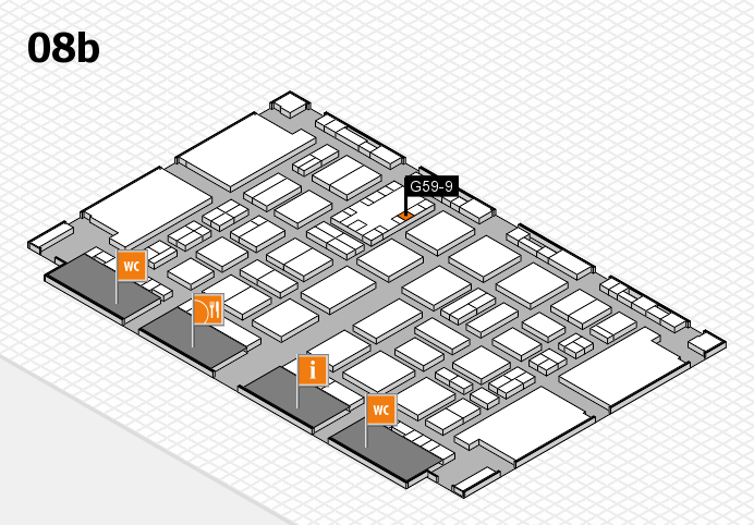 TOP HAIR DÜSSELDORF 2017 hall map (Hall 8b): stand G59-9