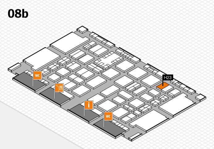 TOP HAIR DÜSSELDORF 2017 hall map (Hall 8b): stand H23