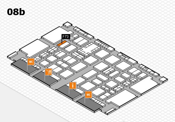 TOP HAIR DÜSSELDORF 2017 hall map (Hall 8b): stand F73